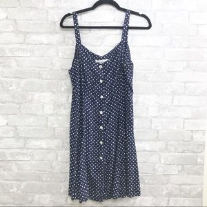 The Limited | 80s 90s Navy White Polka Dot Dress